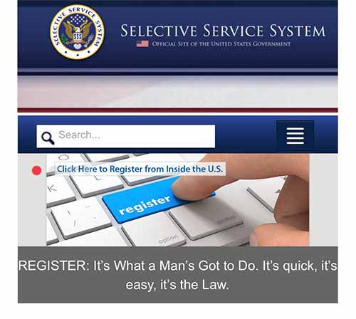 Selective Service - It's what a Man's got to do!